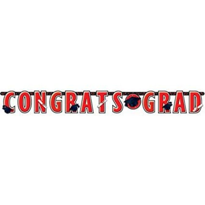 10 ft Giant Grad Banner red