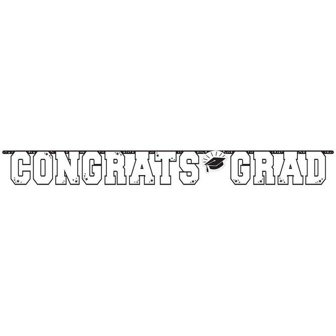 10 ft Giant Grad Banner White