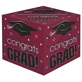 Berry Graduation Card Holder Box - Congrats Grad