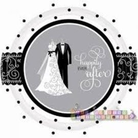 Black and White Wedding Plates