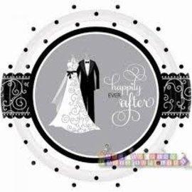 Black and White Wedding Plates