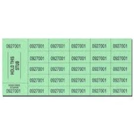 Chinese Auction Tickets- Green, 500ct