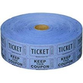 Blue Double Ticket Roll, 2000ct
