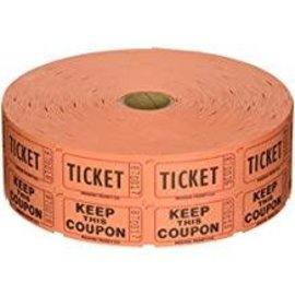 Orange Double Ticket Roll, 2000ct