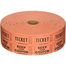 Orange Double Ticket Roll, 2000ct