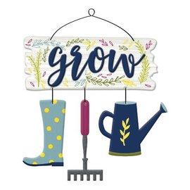 Grow Garden Hanging Sign