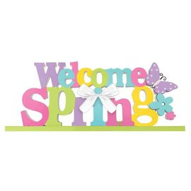 Welcome Spring Standing MDF