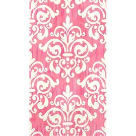Pink Damask ECO Guest Towels