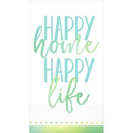 Happy Home, Happy Life Guest Towel