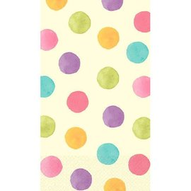 Soft Watercolor Dots Guest Towels