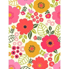Coral Floral Plastic Table Cover