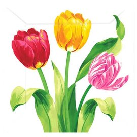 Bright Tulips Square Plates