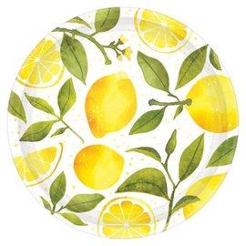 Lemons Round Plates