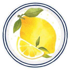 Lemons Round Dessert Plates