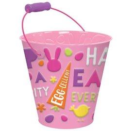 Happy Easter Bucket Pink