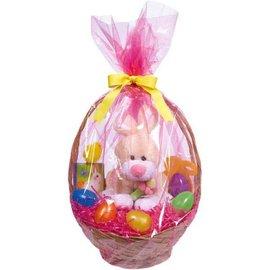 Solid Pink Basket Bags