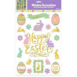 Easter Embossed Foil Window Decorations