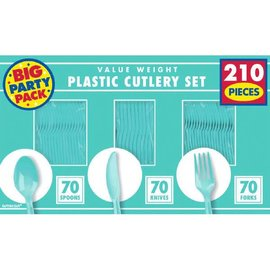 Robin's-egg Blue Value Window Box Cutlery Set