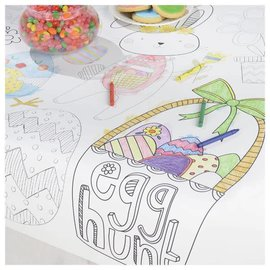 Easter Kids Coloring Table Cover