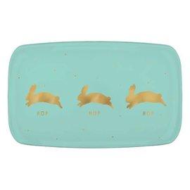 Hopping Bunnies Rectangular Coupe Platter