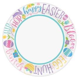 Hoppy Easter Round Plates