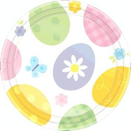 Eggstravaganza Round Dessert Plate