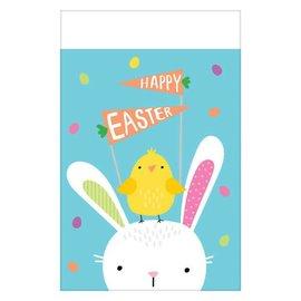 "Hello Bunny Plastic Table Cover     54"" x 102"""