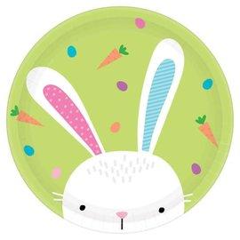 Hello Bunny Round Plates