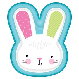 Bunny-Shaped Paper Plates