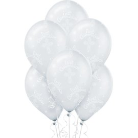 Communion Printed Latex Balloons - Clear   6ct