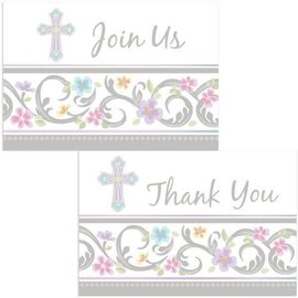Blessed Day Invite & Thank You Card Set