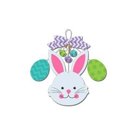 Bunny/Eggs and Bells Deluxe Sign w/ Wire Hanger