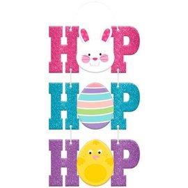 Hop Hop Hop Sign w/ Cord Hanger