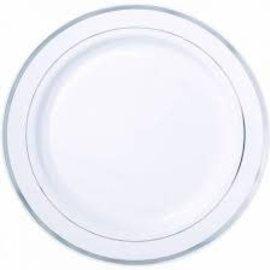 White w/Silver Plate