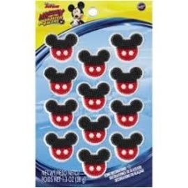 Mickey Icing Decoration, 12ct
