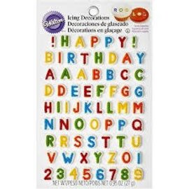 Letters & Numbers Icing Decorations
