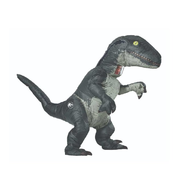 Adult Jurassic World: Fallen Kingdom Velociraptor 'Blue' Inflatable Costume with Sound