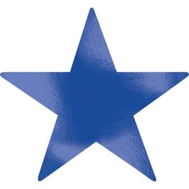 Foil Star Cutouts - Bright Royal Blue
