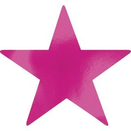 Foil Star Cutouts - Bright Pink