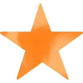 Foil Star Cutouts - Orange Peel
