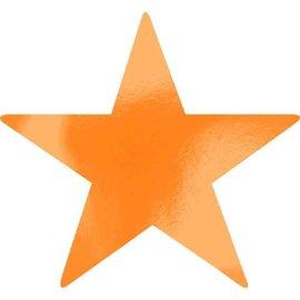 Foil Star Cutouts - Orange Peel