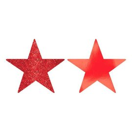 Star Cutouts - Apple Red