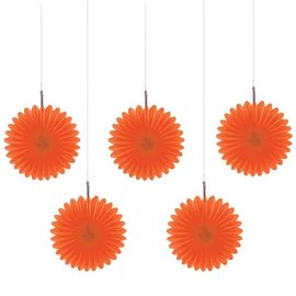 Mini Paper Fans - Orange Peel