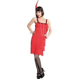 20's Red Flapper Dress ‑ Adult Standard