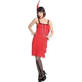 20's Red Flapper Dress ‑ Adult Standard