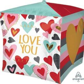 "Trendy Love Cubez Balloon, 15"""