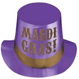Mardi Gras Hat with Glitter