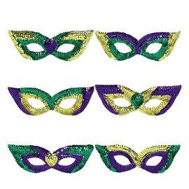 Sequin Party Masks 6pk