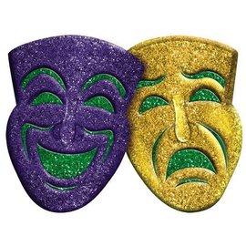 "Comedy-Tragedy Glitter 3D Decoration 15"" x 21"""