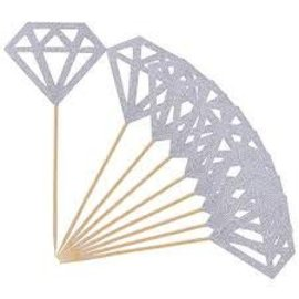Silver Glitter Diamond Sticker Sheet 12ct